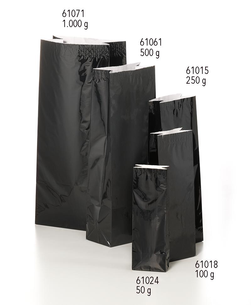 x 61061 x 290 de mm 500 65 g negra Bolsa té Empaquesbolsas 105 agzHZUaq